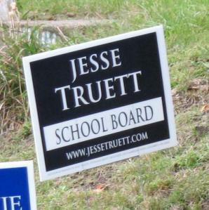 Truett yard sign