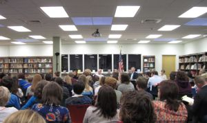 Board meeting of 4-15-14, at which a hundred parents and kids attended