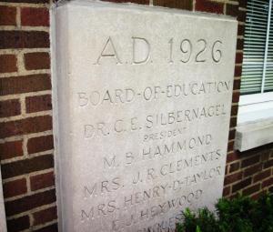 Stevenson dedication plaque