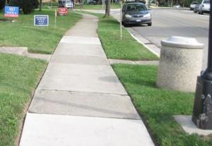 Sidewalk no on 6