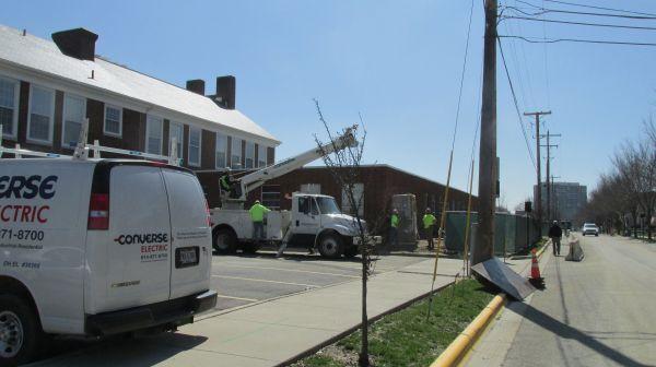 School construction workers