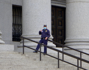 cop with mask